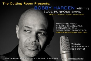 Bobby Harden in concert with his Soul Purpose Band at the Cutting Room